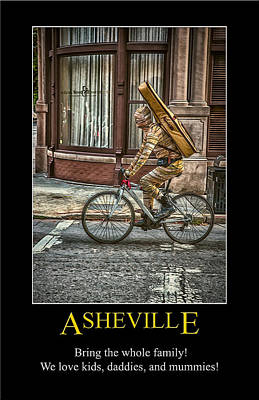 Digital Art - Asheville Mummies Poster by John Haldane