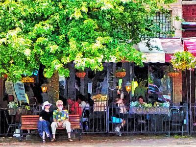 Men Photograph - Asheville Nc Outdoor Cafe by Susan Savad
