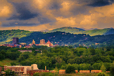 Asheville North Carolina Art Print by John Haldane