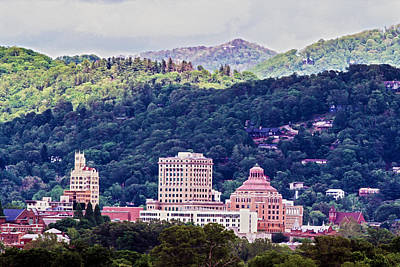 Asheville Painted Art Print by John Haldane