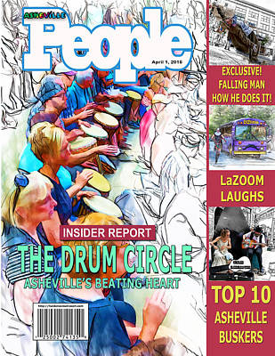 Digital Art - Asheville People Faux Magazine Cover by John Haldane