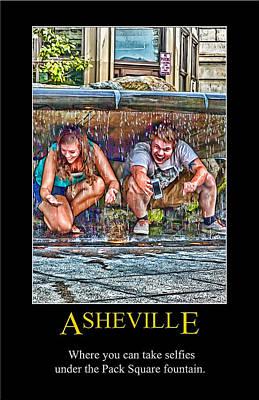 Digital Art - Asheville Selfies Poster by John Haldane