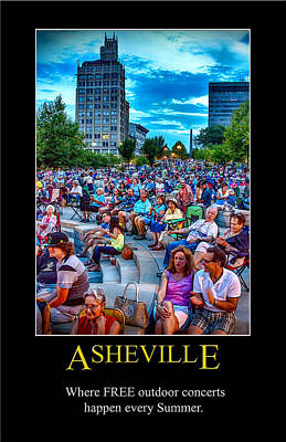 Digital Art - Asheville Shindig Poster by John Haldane