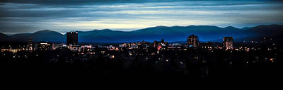 Asheville Skyline Art Print by Karen Wiles