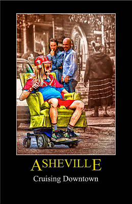 Digital Art - Asheville Transportation Poster by John Haldane