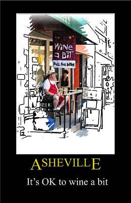Digital Art - Asheville Wine Poster by John Haldane
