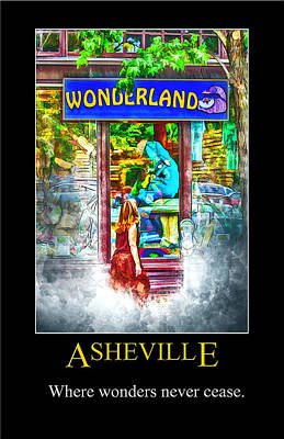Digital Art - Asheville Wonderland Poster by John Haldane