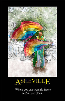 Digital Art - Asheville Worship Poster by John Haldane