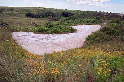Trenches Photograph - Ashfall Fossil Beds by Jim West