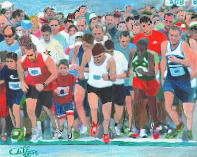 Ashland Half Marathon Art Print by Cliff Wilson