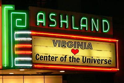 Photograph - Ashland Theater Marque by Jean Wright