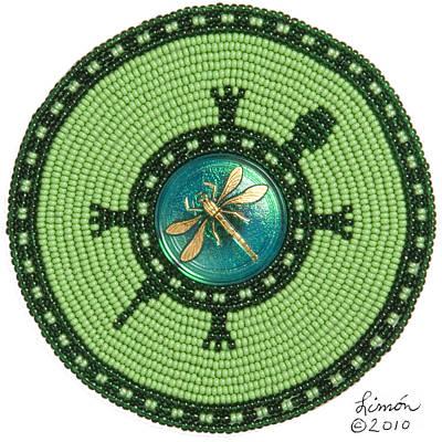 Digital Art - Ashlee's Dragonfly Turtle by Douglas K Limon