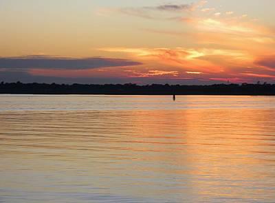 Ashley River Sunset 2 Original by Warren Thompson