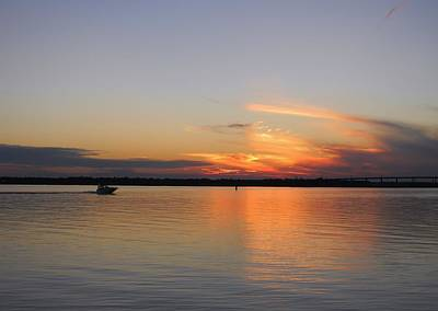 Ashley River Sunset Original by Warren Thompson