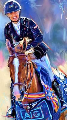 English Painting - Ashley Winning by Terri Glaser