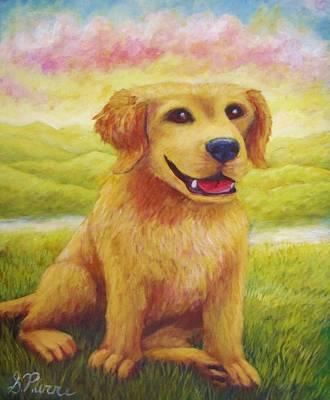 Painting - Ashly's Retriever   by Sebastian Pierre