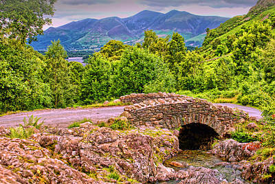 Photograph - Ashness Bridge Cumbria by Graham Hawcroft pixsellpix