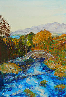 Ashness Bridge - Painting Art Print by Veronica Rickard