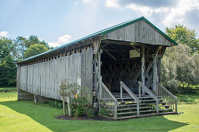 Photograph - Ashtabula Collection - Graham Road Covered Bridge 7k02007 by Guy Whiteley