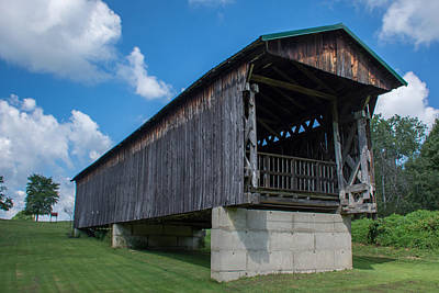 Photograph - Ashtabula Collection - Graham Road Covered Bridge 7k02009 by Guy Whiteley