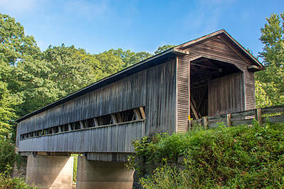 Photograph - Ashtabula Collection - Middle Road Covered Bridge 7k01964 by Guy Whiteley