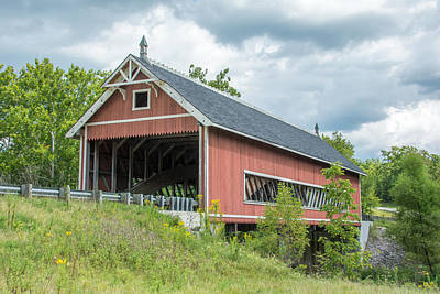 Photograph - Ashtabula Collection - Netcher Road Covered Bridge 7k02031 by Guy Whiteley