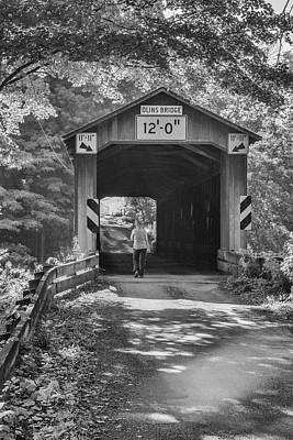 Photograph - Ashtabula Collection - Olin's Covered Bridge 7k01975b by Guy Whiteley