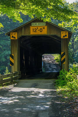 Photograph - Ashtabula Collection - Olin's Covered Bridge 7k01978 by Guy Whiteley