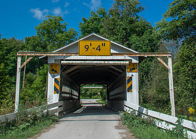 Photograph - Ashtabula Collection - Root Road Covered Bridge 7k02003 by Guy Whiteley