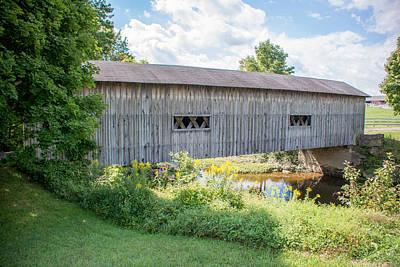 Photograph - Ashtabula Collection - South Denmark Road Covered Bridge 7k02022 by Guy Whiteley