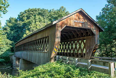 Photograph - Ashtabula Collection - State Road Covered Bridge 7k01966 by Guy Whiteley