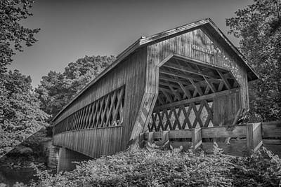Photograph - Ashtabula Collection - State Road Covered Bridge  7k01967b by Guy Whiteley