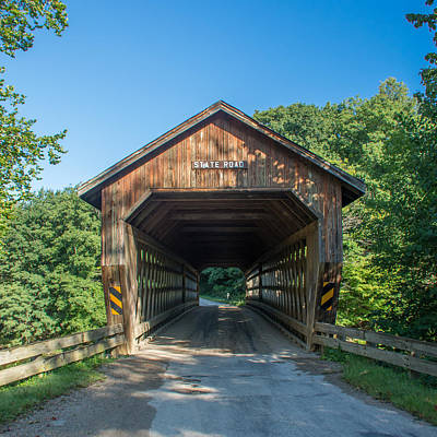 Photograph - Ashtabula Collection - State Road Covered Bridge  7k01968 by Guy Whiteley