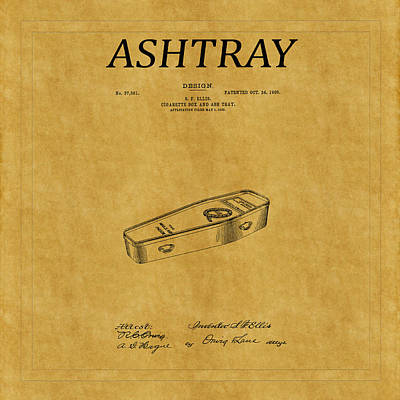 Owls - Ashtray Patent 1 by Andrew Fare