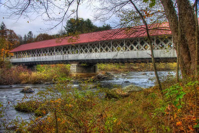 Photograph - Ashuelot Covered Bridge 4 by Joann Vitali