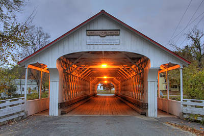 Fall Scenes Photograph - Ashuelot Covered Bridge by Joann Vitali