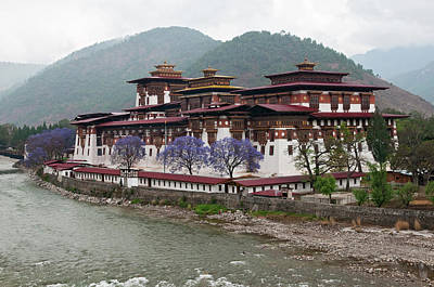 Kirkland Photograph - Asia, Bhutan Exterior View Of Punakha by Jaynes Gallery