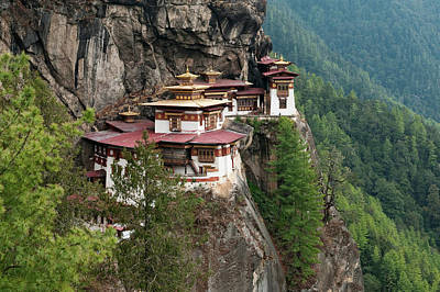 Bhutan Photograph - Asia, Bhutan Taktshang Or Tiger's Nest by Jaynes Gallery