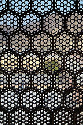 Amer Photograph - Asia, India, Lattice Window Screen by Kymri Wilt