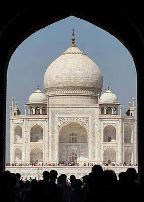 Inlay Photograph - Asia, India Taj Mahal Entry Gate by Brent Bergherm