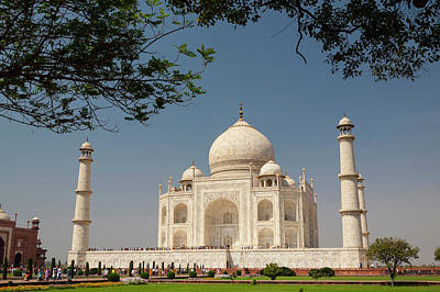 Inlay Photograph - Asia, India Taj Mahal With Trees by Brent Bergherm