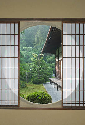 Japan House Photograph - Asia, Japan, Kyoto, Sesshuji Temple by Rob Tilley