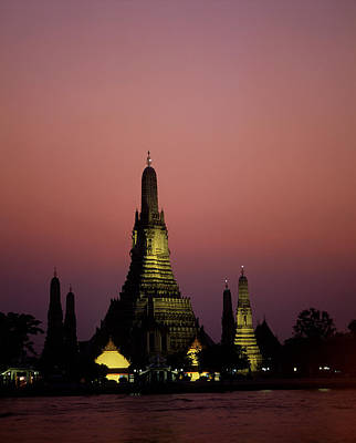 Asia, Thailand, Bangkok, Temple Wat Art Print by Tips Images