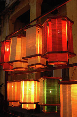 Asia, Vietnam Fabric Lanterns, Hoi An Art Print by Kevin Oke