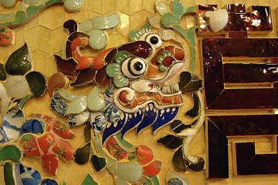 Mosaic Photograph - Asia, Vietnam Mosaic Naga, Khai Dinh by Kevin Oke