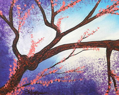 Painting - Asian Bloom Triptych 1 by Darren Robinson
