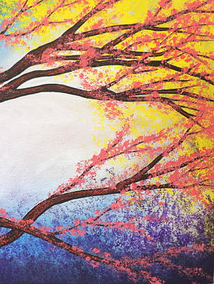 Painting - Asian Bloom Triptych 3 by Darren Robinson