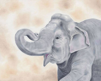 Poaching Painting - Asian Elephant by Annamarie Lombardo