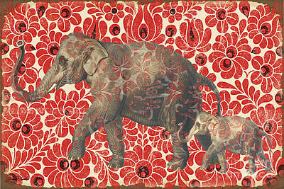 Elephant Digital Art - Asian Elephant-jp2185 by Jean Plout