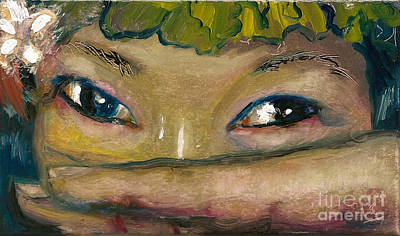 Painting - Asian Eyes by Donna Chaasadah